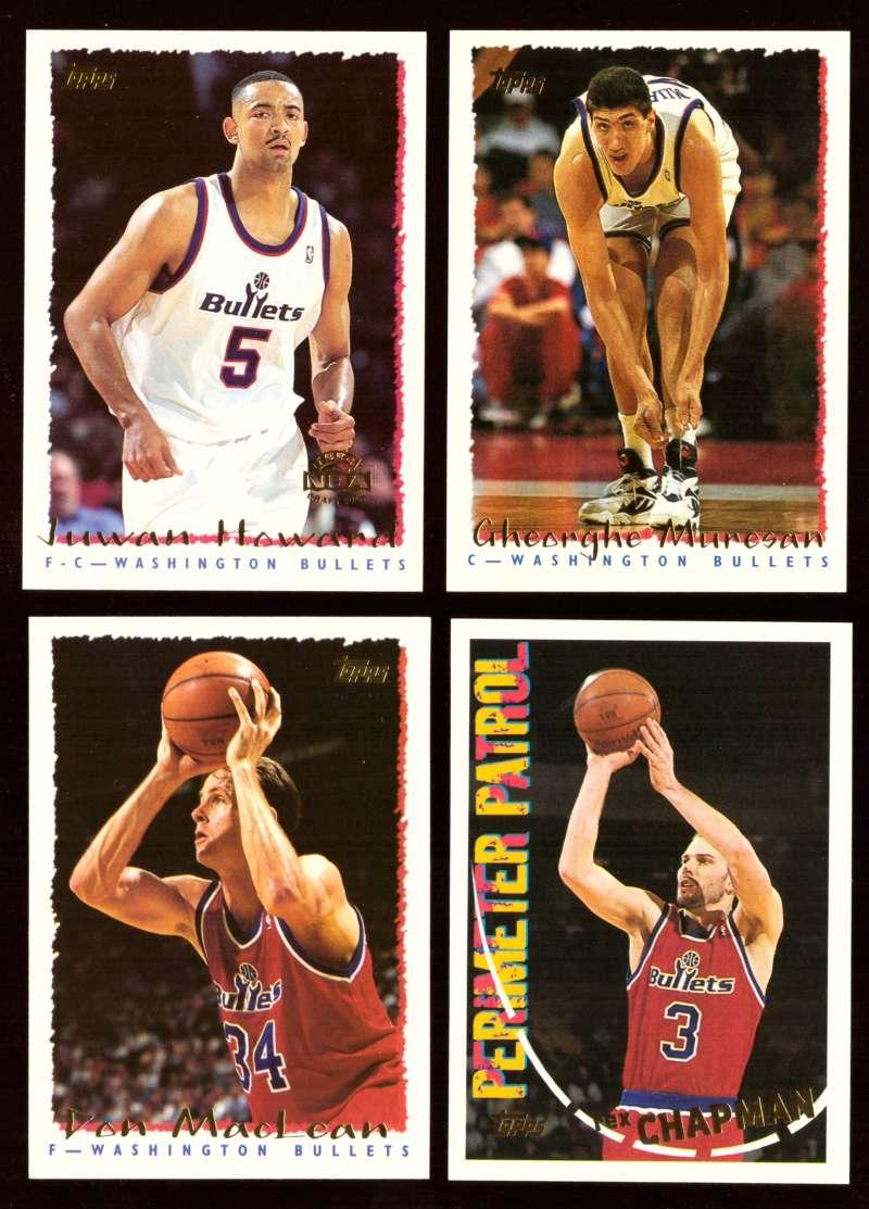 1994-95 Topps Basketball Team Set - Washington Bullets