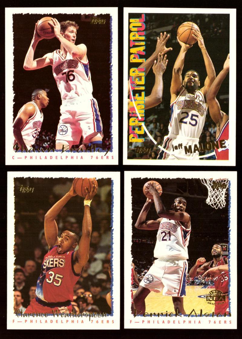 1994-95 Topps Basketball Team Set - Philadelphia 76ers
