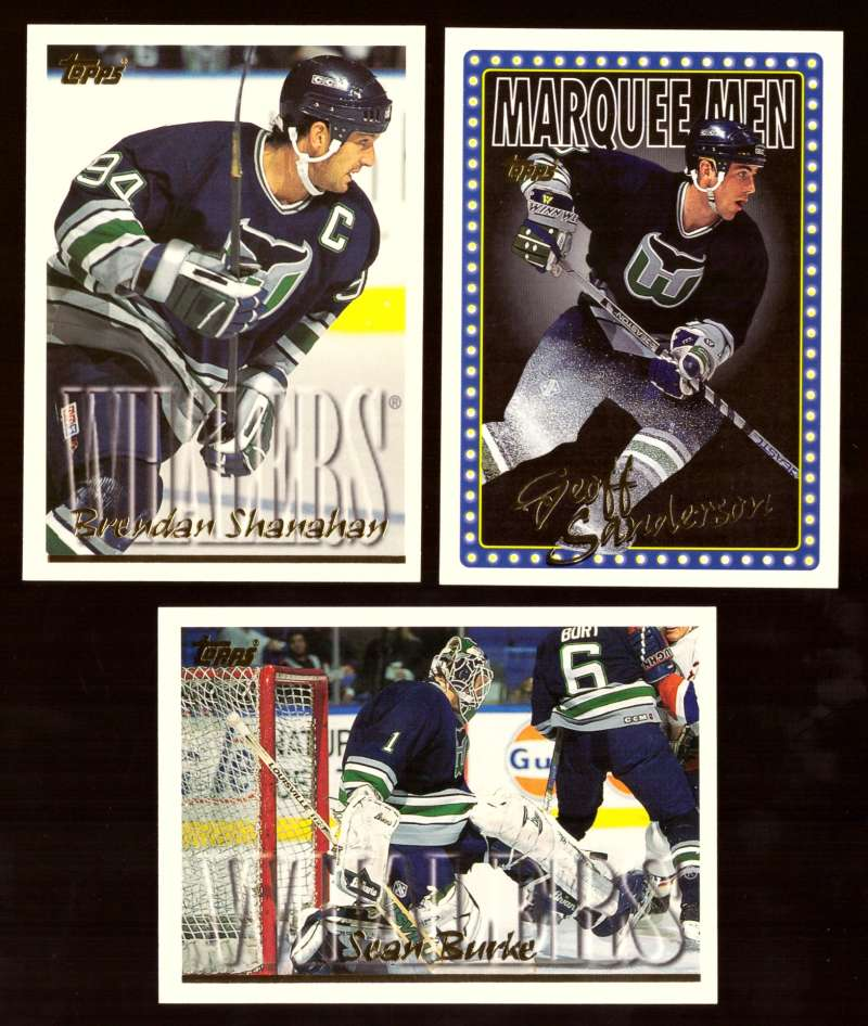 1995-96 Topps Hockey Team Set - Hartford Whalers
