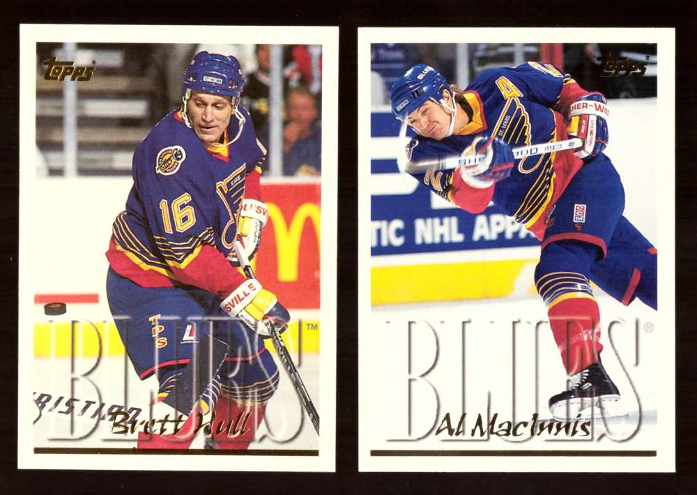 1995-96 Topps Hockey Team Set - St. Louis Blues