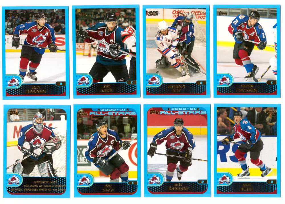 2001-02 Topps Hockey (1-330) Team Set - Colorado Avalanche