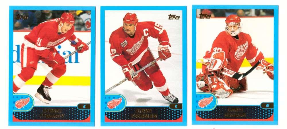 2001-02 Topps Hockey (1-330) Team Set - Detroit Red Wings