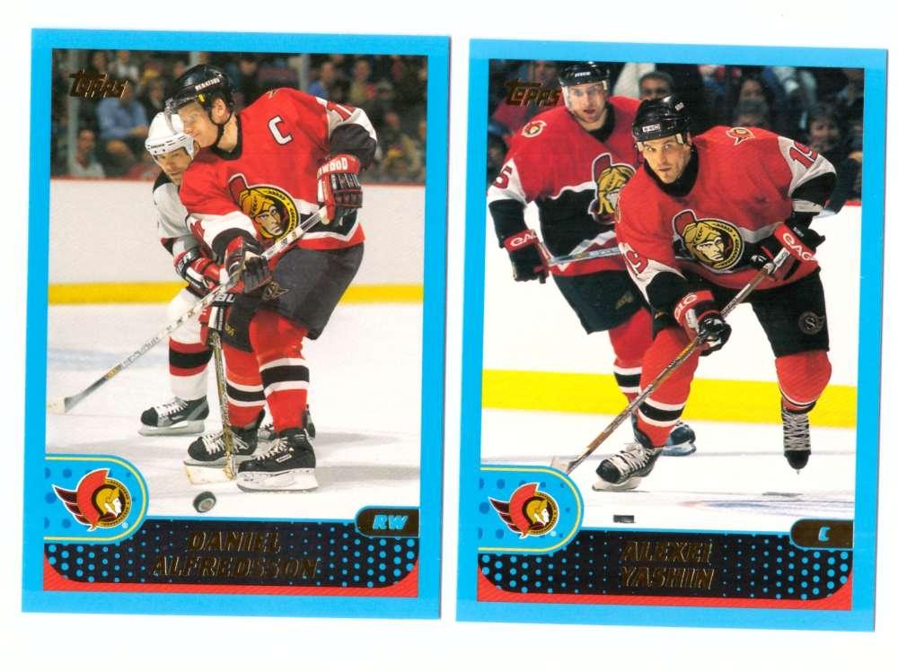 2001-02 Topps Hockey (1-330) Team Set - Ottawa Senators