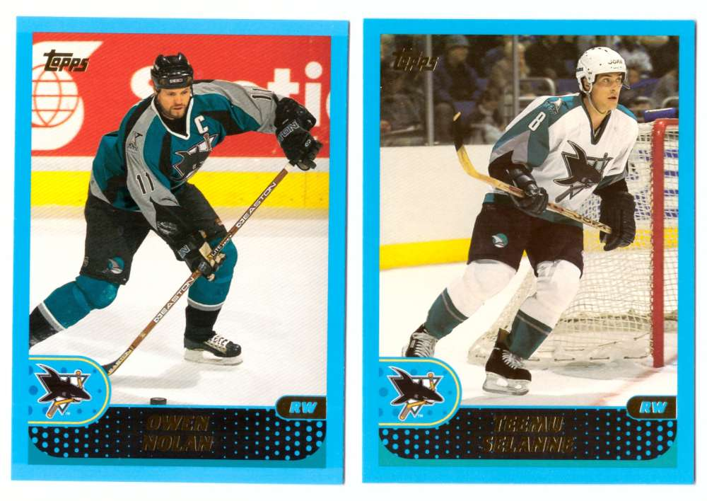 2001-02 Topps Hockey (1-330) Team Set - San Jose Sharks