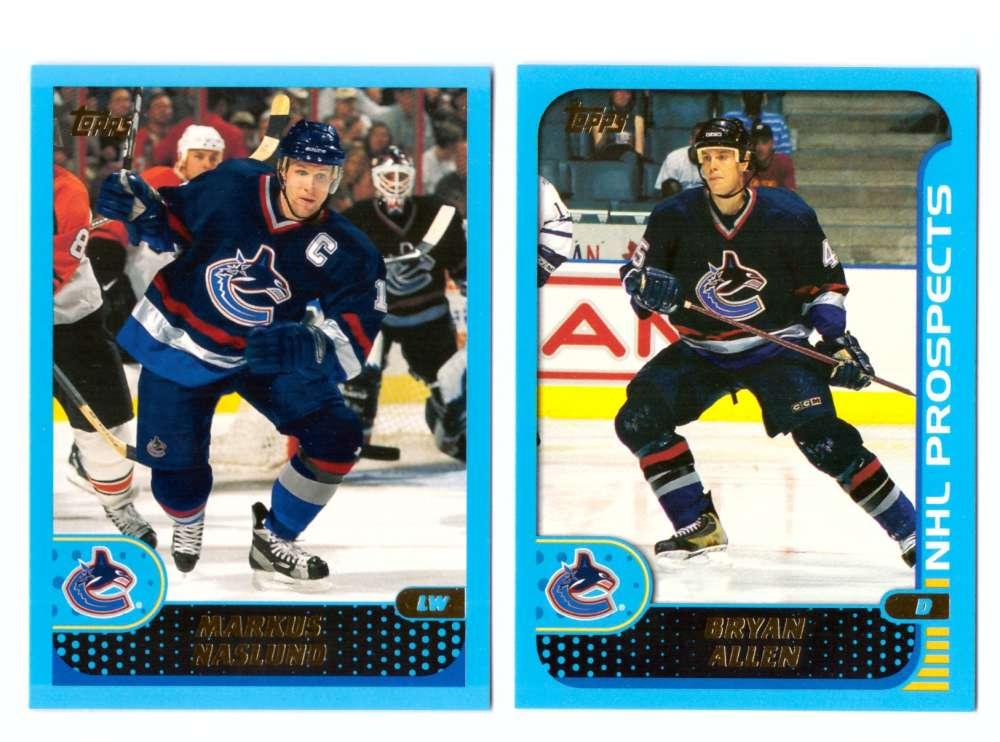 2001-02 Topps Hockey (1-330) Team Set - Vancouver Canucks