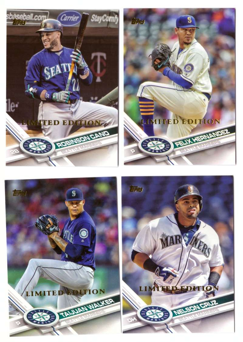 2017 Topps Limited Edition (Tiffany) - SEATTLE MARINERS Team Set
