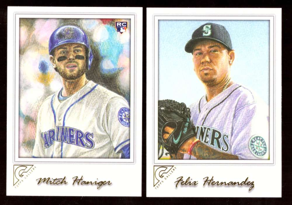 2017 Topps Gallery - SEATTLE MARINERS Team Set