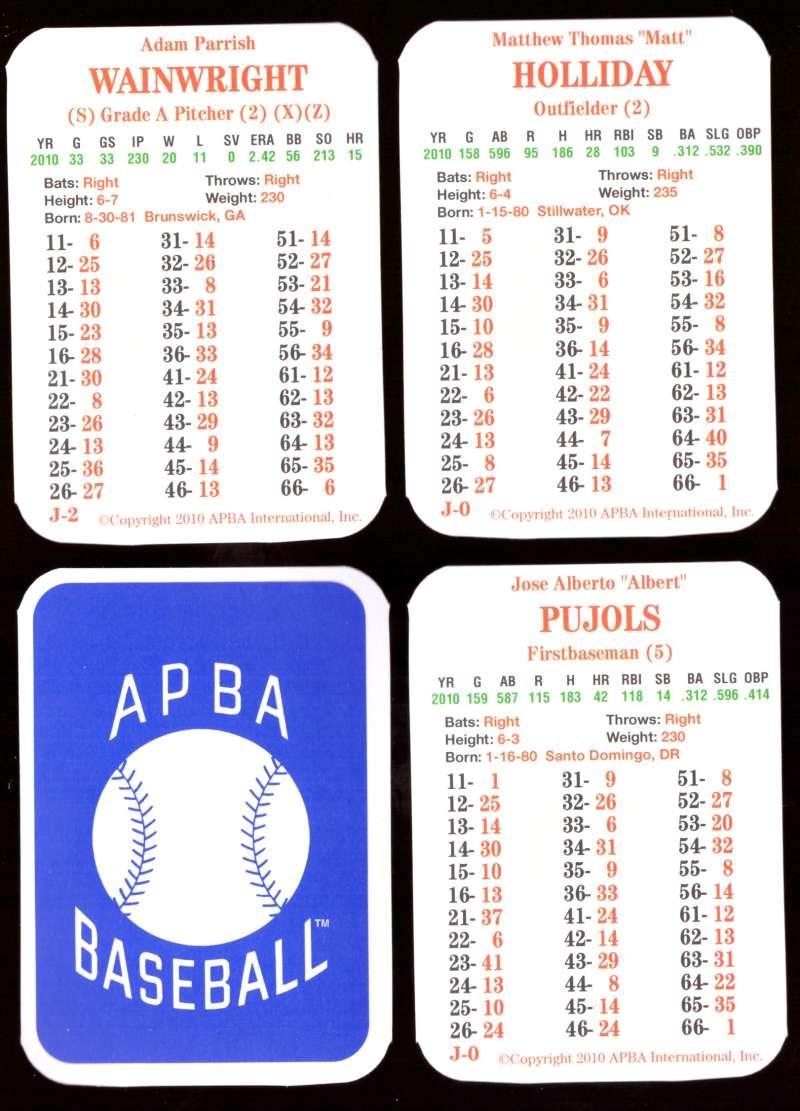 2010 APBA Season - ST LOUIS CARDINALS Team Set