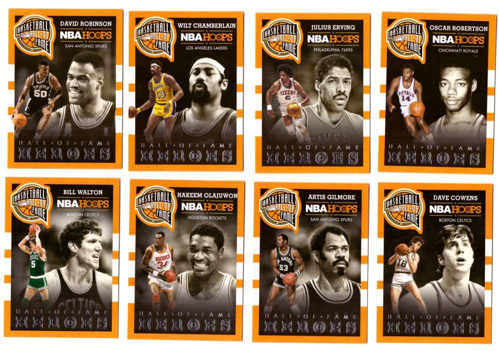 2013-14 Hoops Hall of Fame Heroes Basketball 25 Card Insert Set