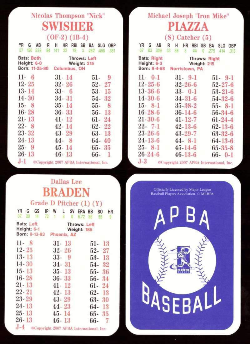 2007 APBA Season - OAKLAND ATHLETICS / As Team Set