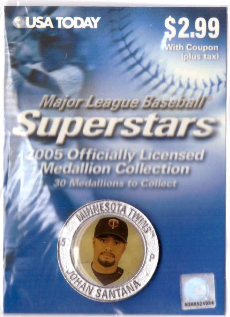 2005 USA Today Superstars Medallions - Johan Santana