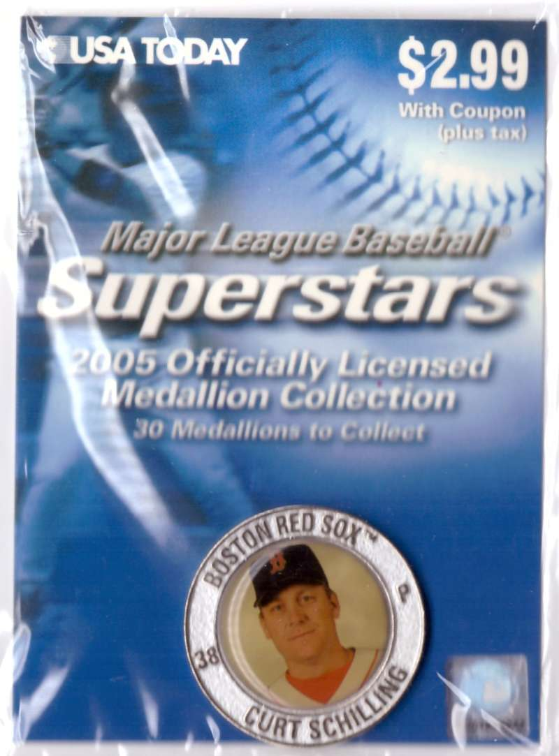 2005 USA Today Superstars Medallions - Curt Schilling
