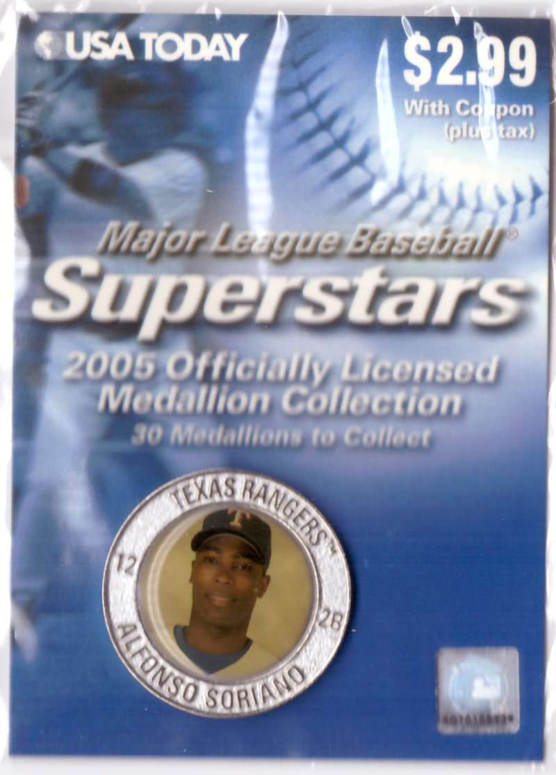 2005 USA Today Superstars Medallions - Alfonso Soriano
