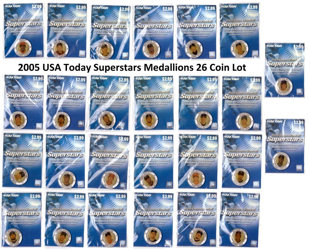 2005 USA Today Superstars Medallions Lot 26 out of 30 different Coins