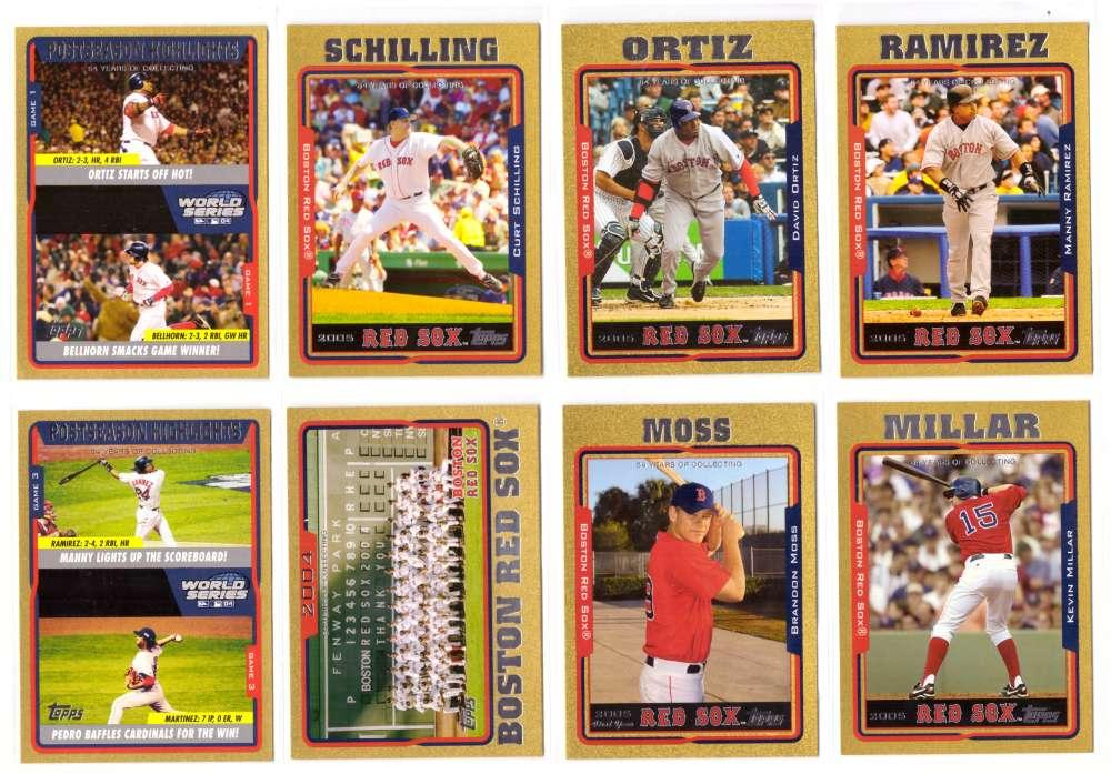 2005 Topps Gold (#ed/2005) - BOSTON RED SOX Team Set