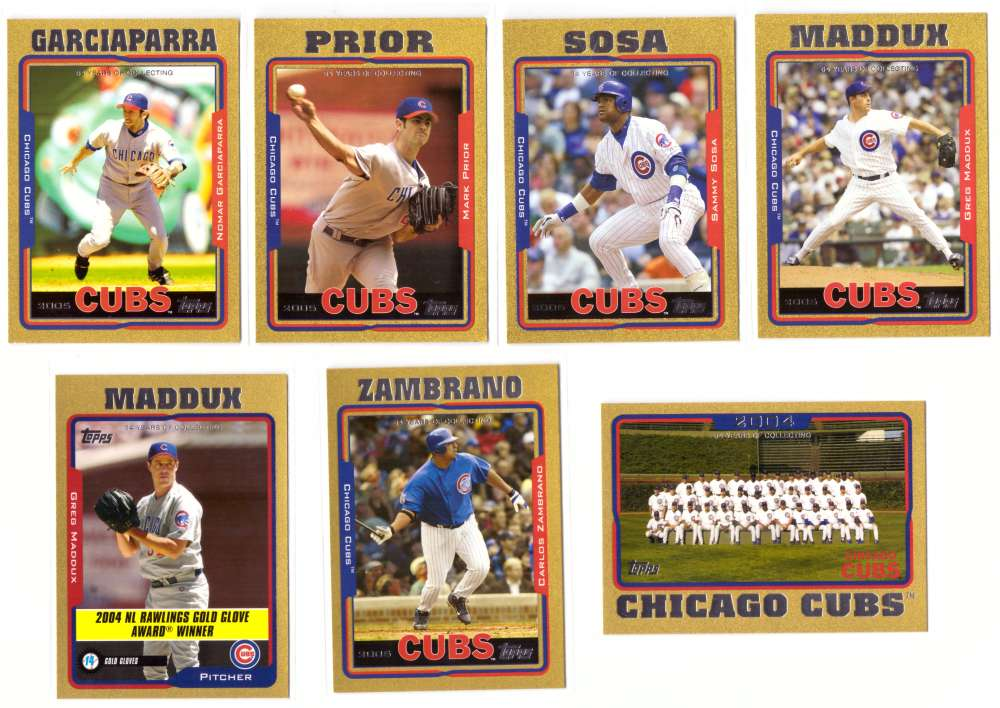 2005 Topps Gold (#ed/2005) - CHICAGO CUBS Team Set