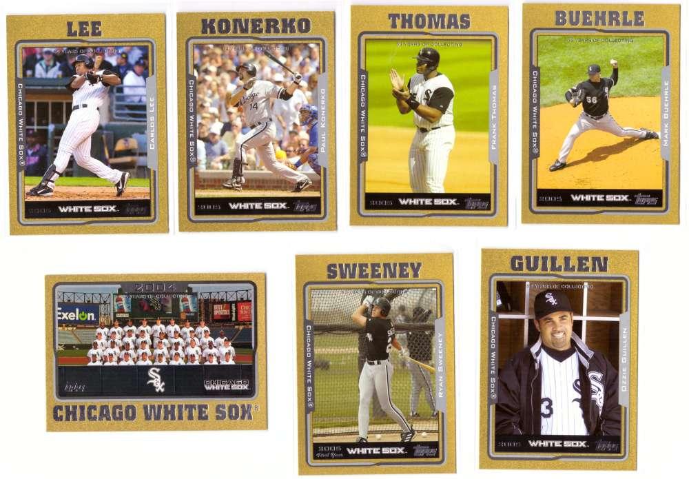 2005 Topps Gold (#ed/2005) - CHICAGO WHITE SOX Team Set