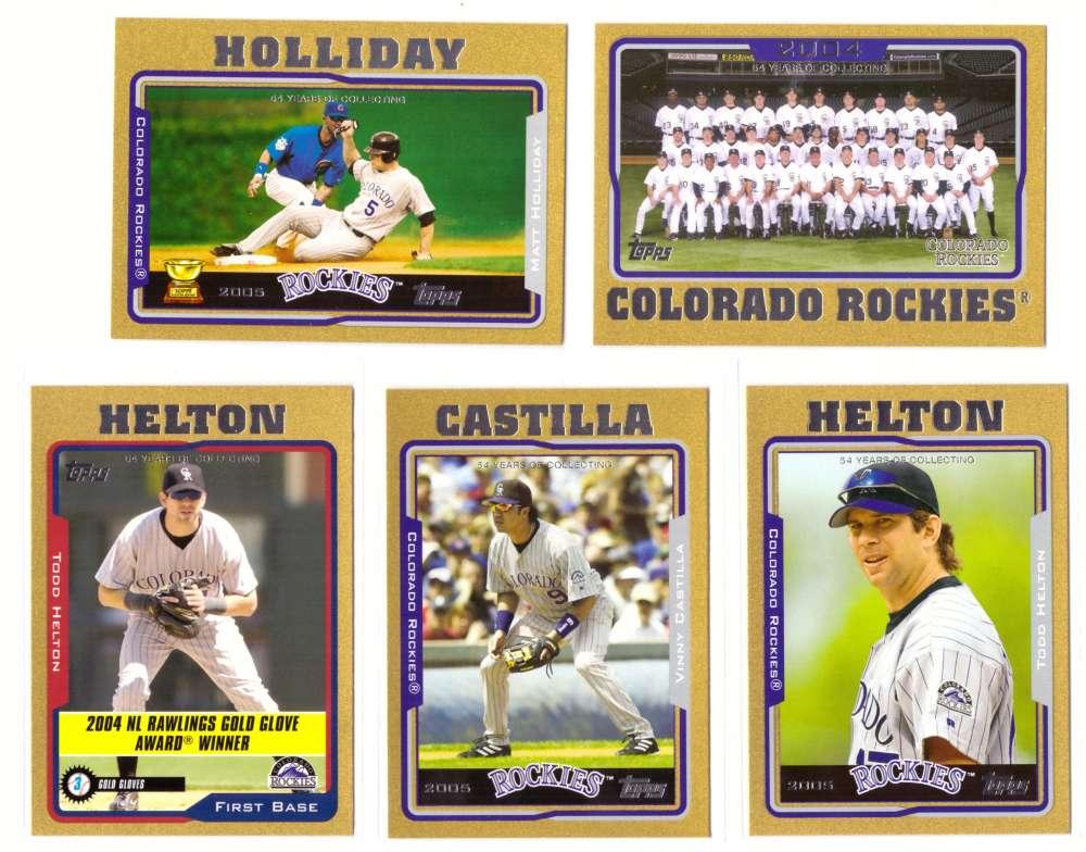 2005 Topps Gold (#ed/2005) - COLORADO ROCKIES Team Set