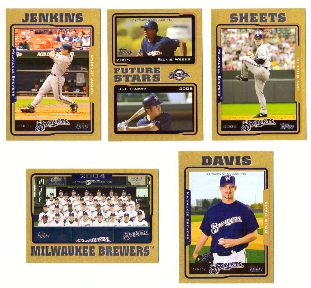 2005 Topps Gold (#ed/2005) - MILWAUKEE BREWERS Team Set