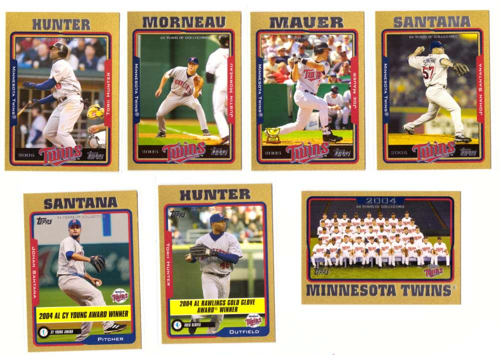 2005 Topps Gold (#ed/2005) - MINNESOTA TWINS Team Set