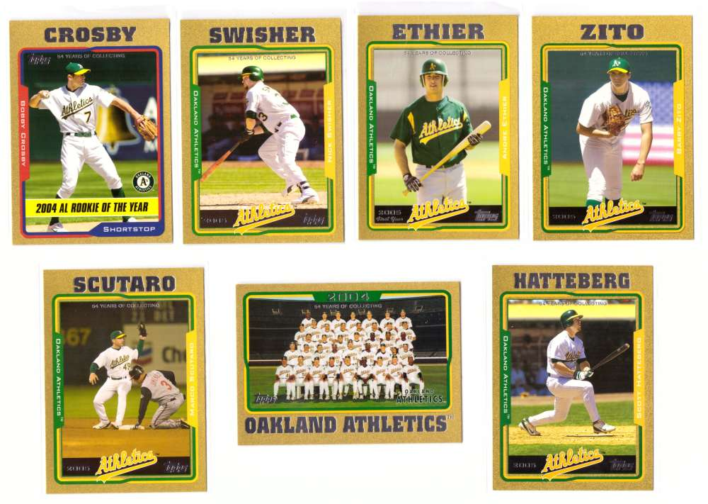 2005 Topps Gold (#ed/2005) - OAKLAND As Team set