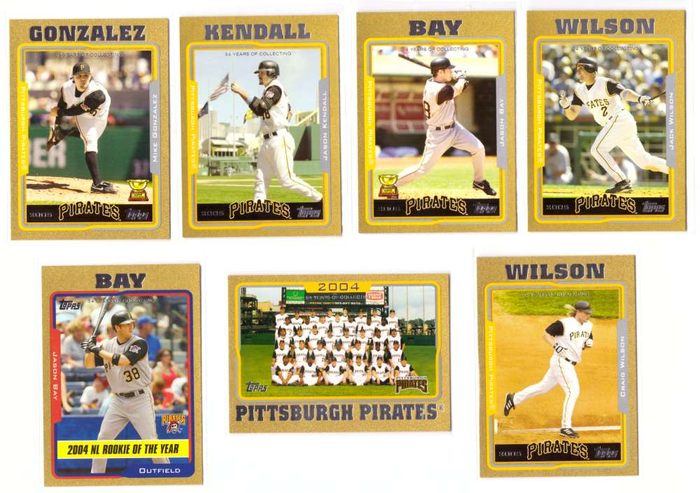 2005 Topps Gold (#ed/2005) - PITTSBURGH PIRATES Team Set
