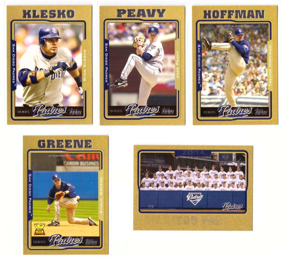 2005 Topps Gold (#ed/2005) - SAN DIEGO PADRES Team Set