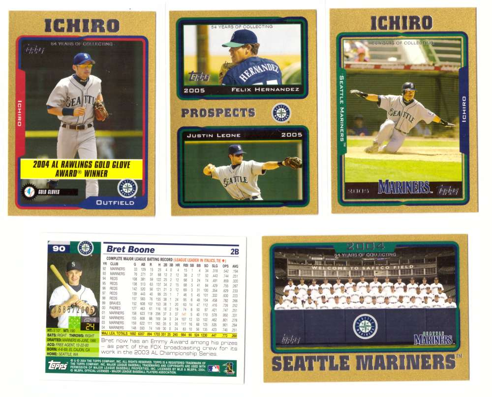 2005 Topps Gold (#ed/2005) - SEATTLE MARINERS Team Set
