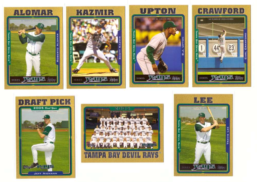 2005 Topps Gold (#ed/2005) - TAMPA BAY RAYS Team Set