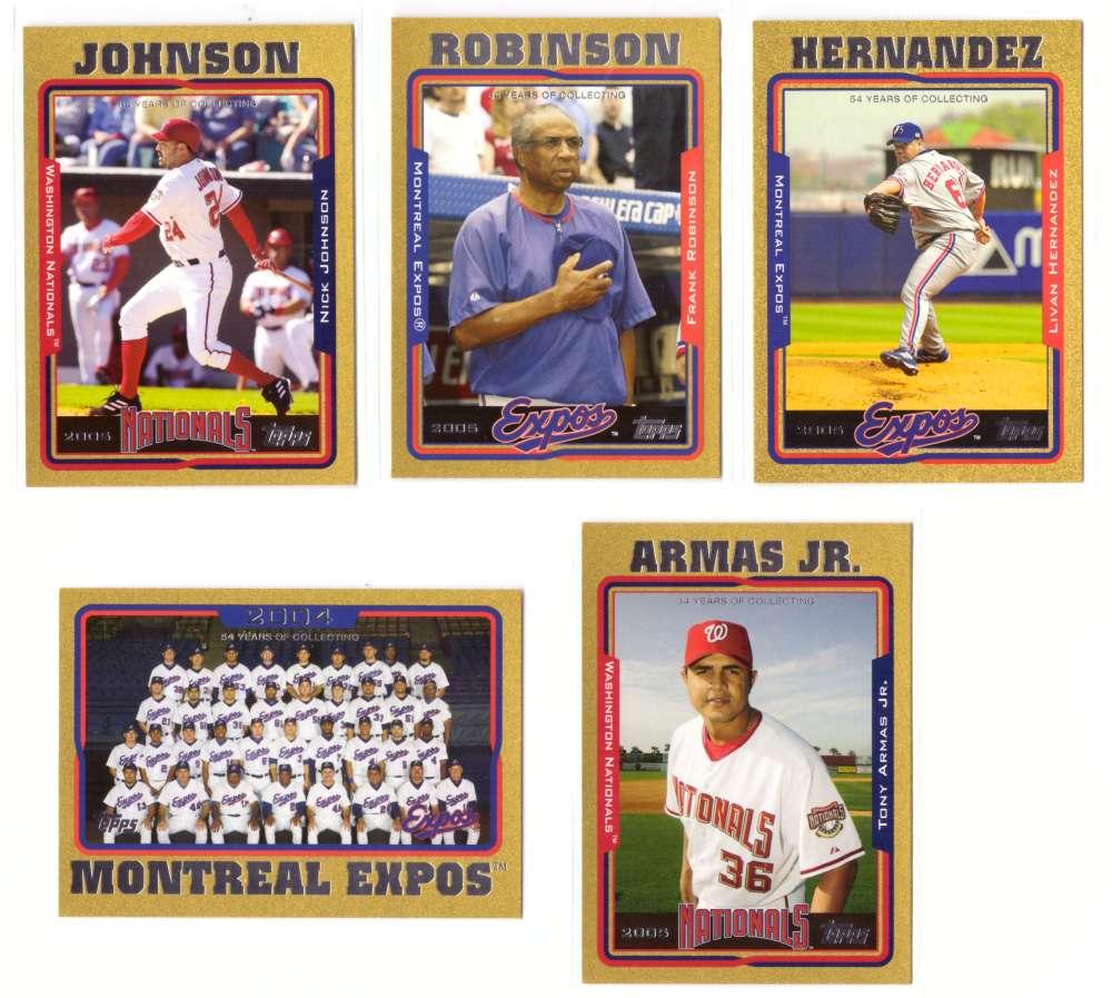 2005 Topps Gold (#ed/2005) - WASHINGTON NATIONALS Team set