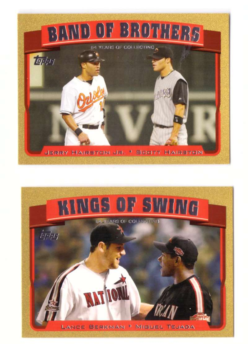 2005 Topps Gold (#ed/2005) Combo Cards 2 card lot