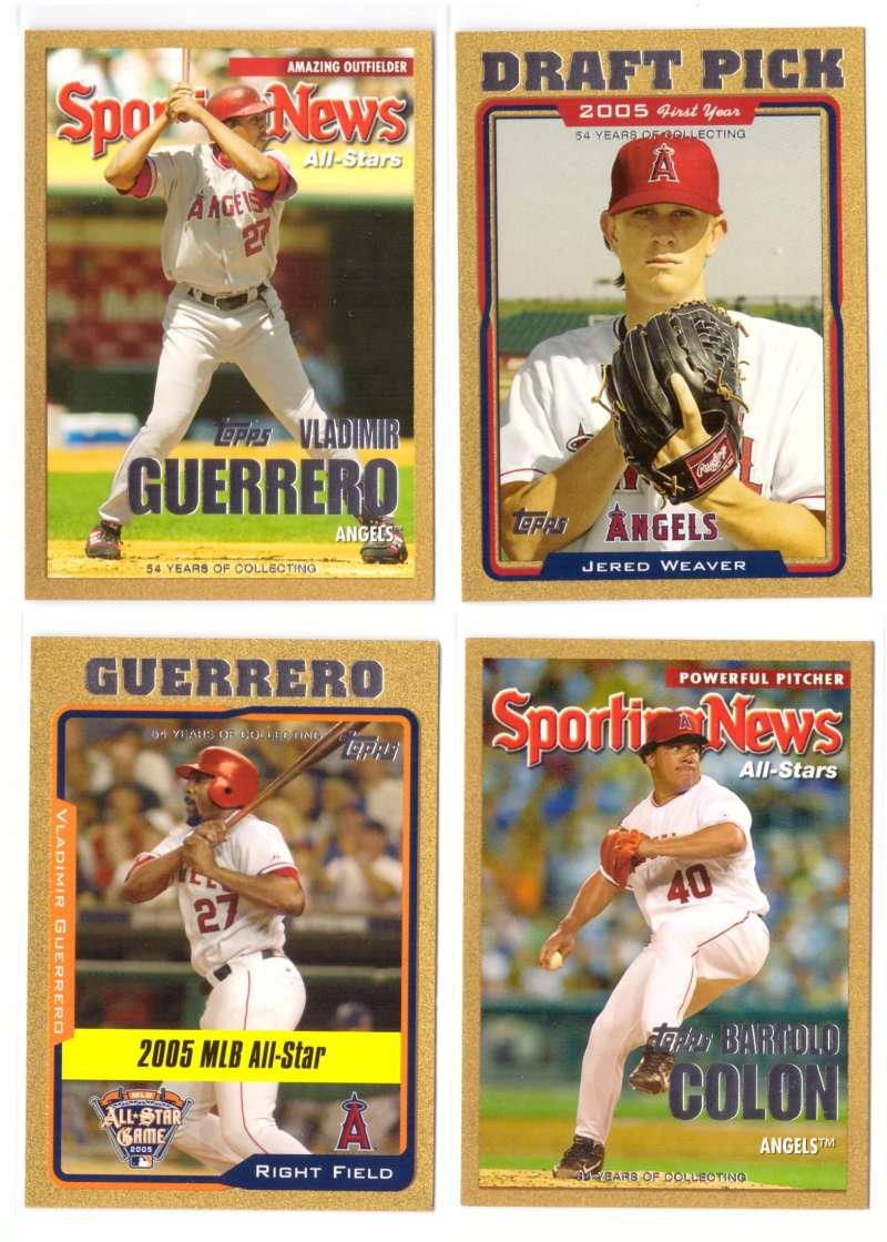 2005 Topps Update Gold (#ed/2005) - LOS ANGELES ANGELS Team set