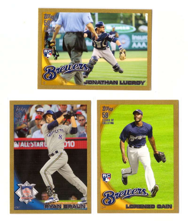 2010 Topps Update Gold - MILWAUKEE BREWERS Team Set