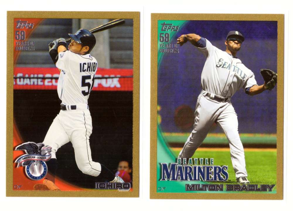 2010 Topps Update Gold - SEATTLE MARINERS Near Team Set w/o #261 & 262