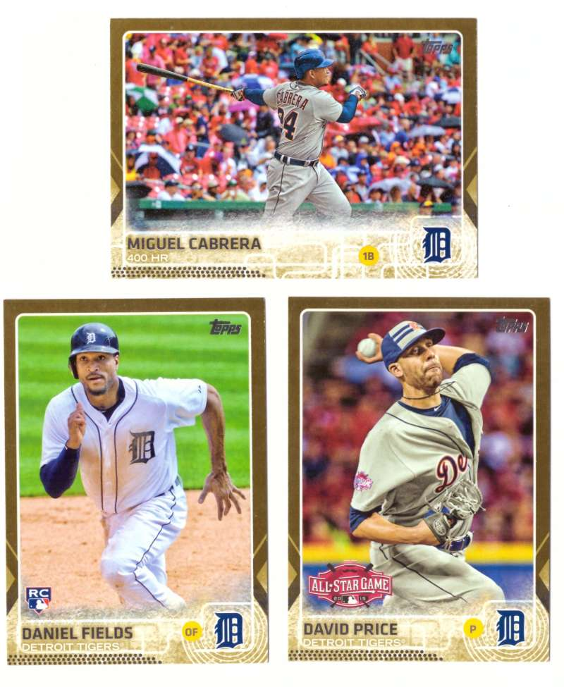 2015 Topps Update Gold - DETROIT TIGERS Team Set