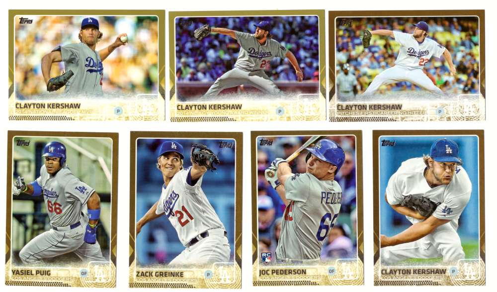 2015 Topps GOLD - LOS ANGELES DODGERS Team Set