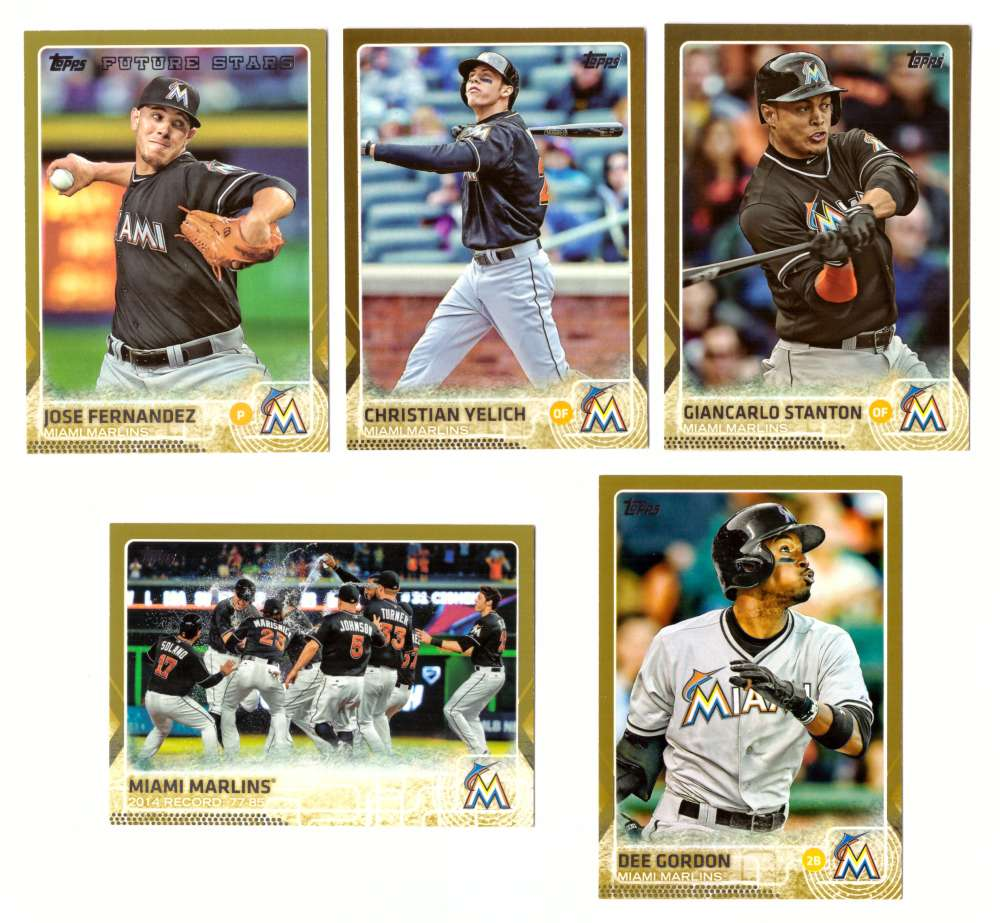 2015 Topps GOLD - MIAMI MARLINS Team Set