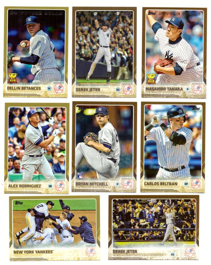 2015 Topps GOLD - NEW YORK YANKEES Team Set