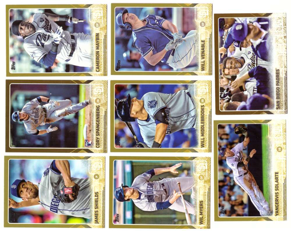 2015 Topps GOLD - SAN DIEGO PADRES Team Set