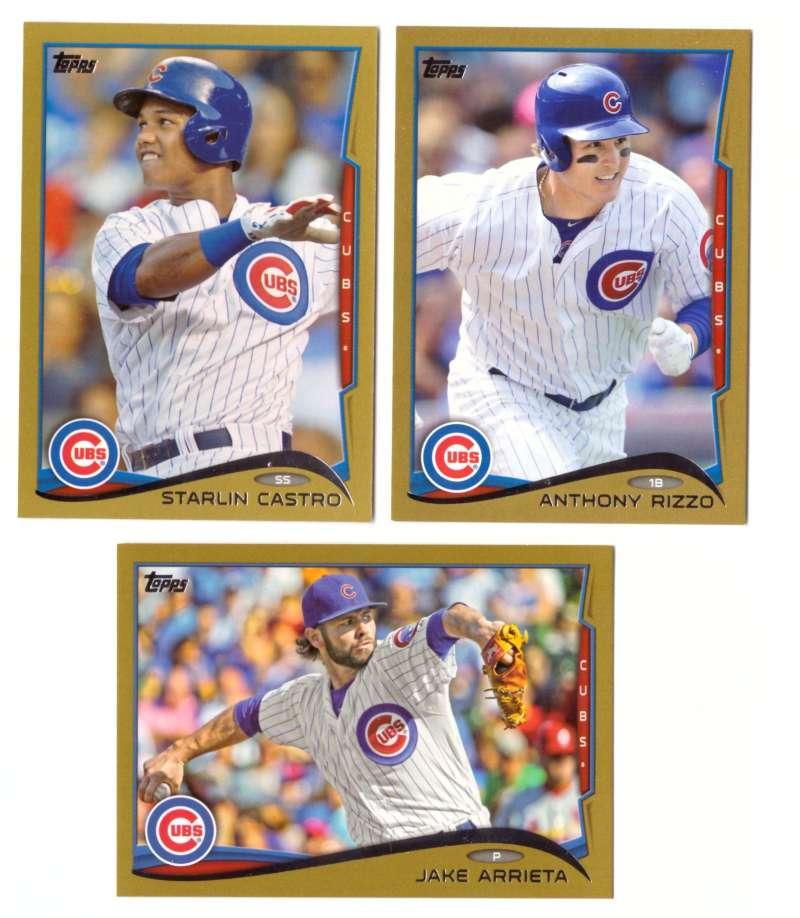 2014 Topps Gold (#ed/2014) - CHICAGO CUBS Team Set