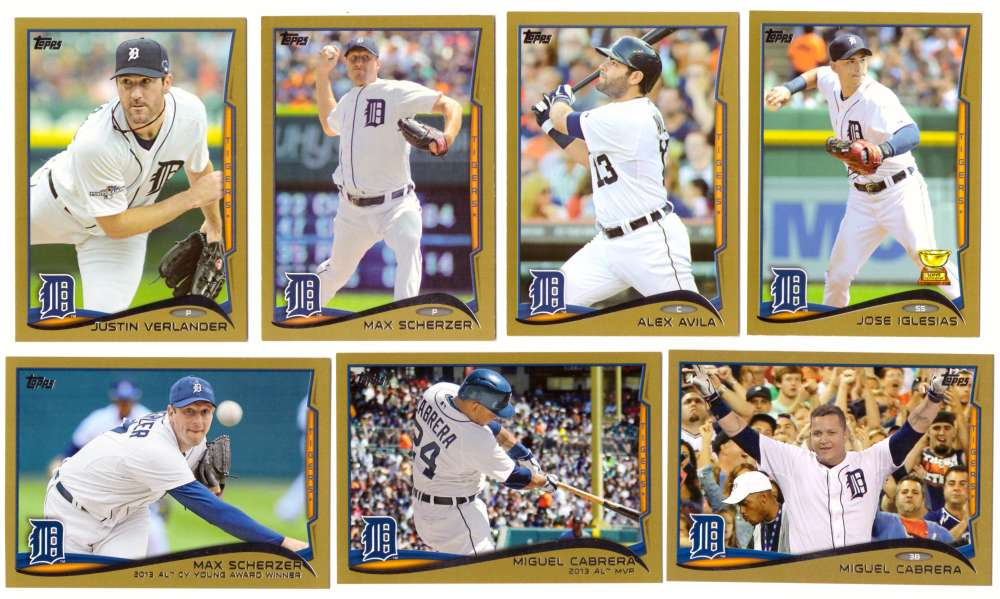 2014 Topps Gold (#ed/2014) - DETROIT TIGERS Near Team Set w/o # 28