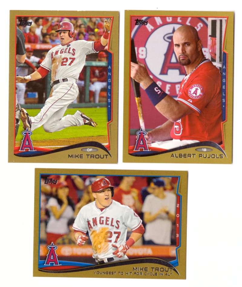 2014 Topps Gold (#ed/2014) - LOS ANGELES ANGELS Near Team Set w/o # 163