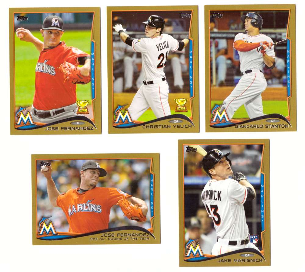 2014 Topps Gold (#ed/2014) - MIAMI MARLINS Team Set