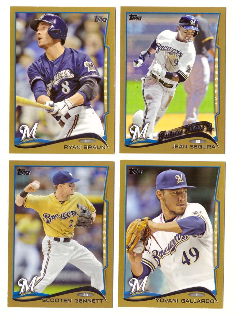 2014 Topps Gold (#ed/2014) - MILWAUKEE BREWERS Near Team Set w/o # 302