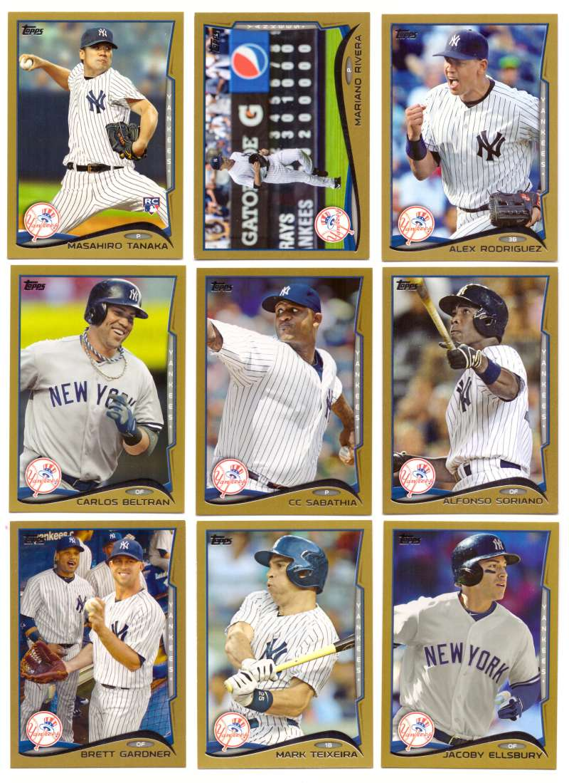 2014 Topps Gold (#ed/2014) - NEW YORK YANKEES Near Team Set w/o # 200 & 321
