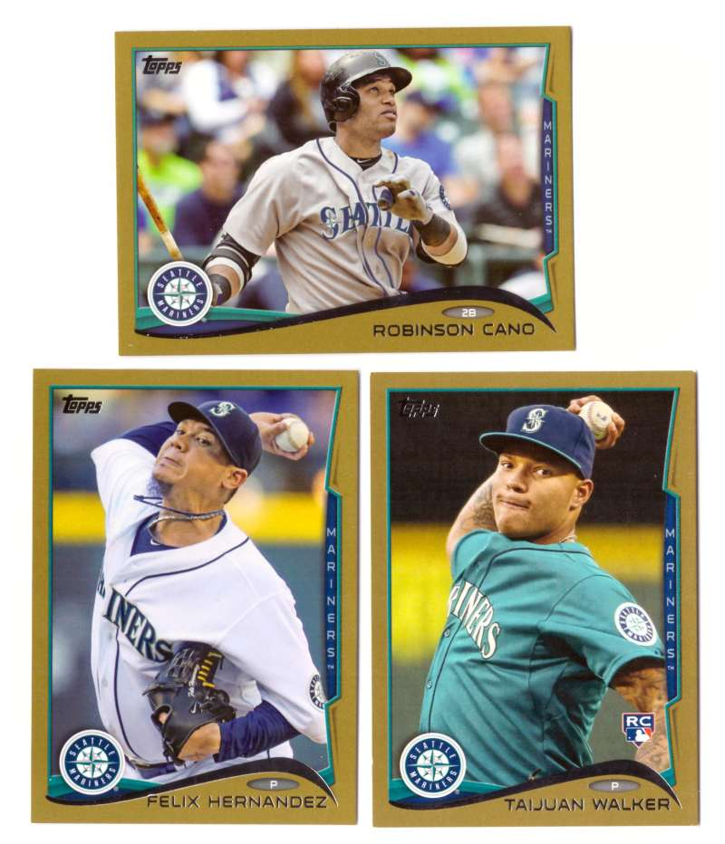 2014 Topps Gold (#ed/2014) - SEATTLE MARINERS Team Set