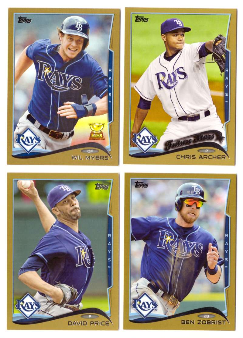2014 Topps Gold (#ed/2014) - TAMPA BAY RAYS Team Set