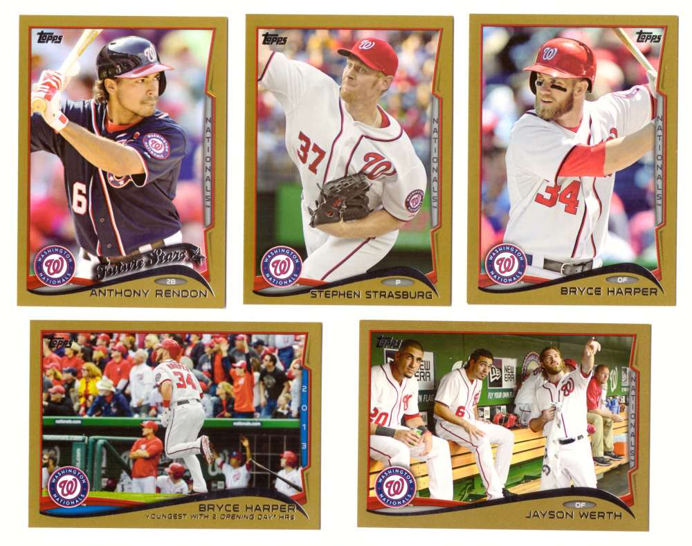 2014 Topps Gold (#ed/2014) - WASHINGTON NATIONALS Near Team Set w/o # 245