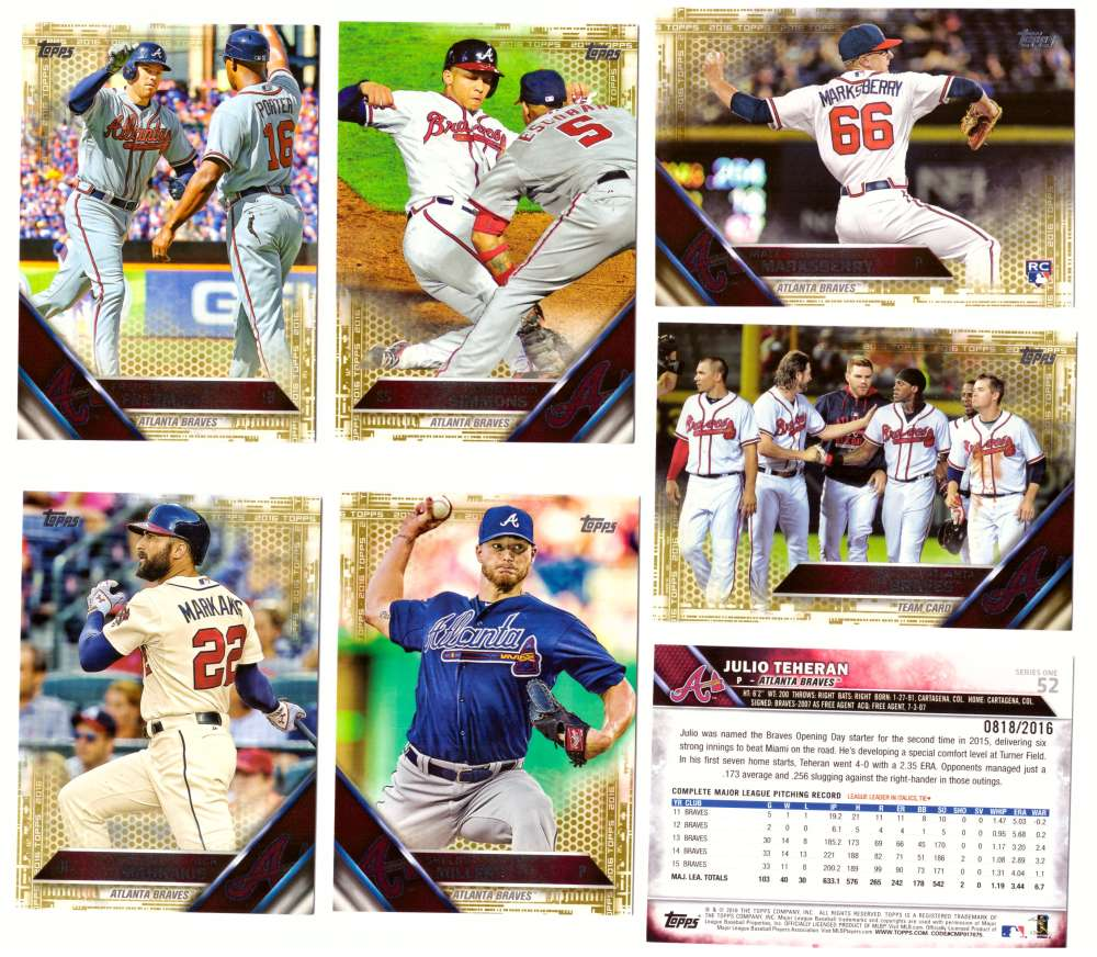 2016 Topps GOLD (#ed/2016) - ATLANTA BRAVES Team Set