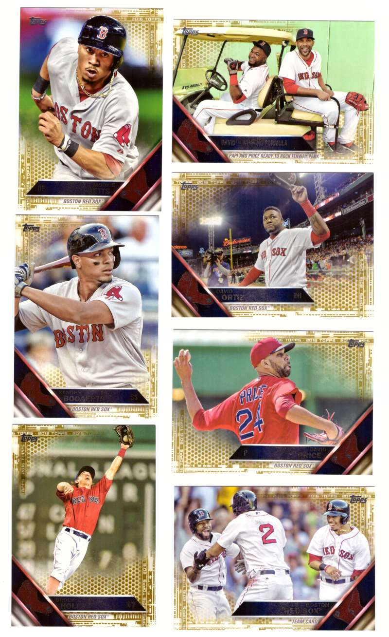 2016 Topps GOLD (#ed/2016) - BOSTON RED SOX Team Set